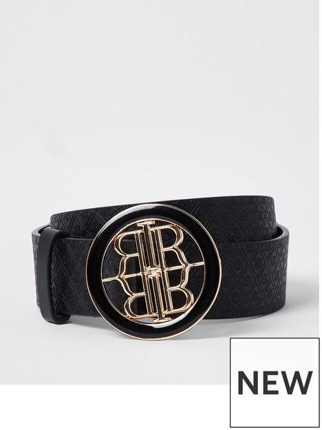 river-island-ri-branded-buckle-belt-black