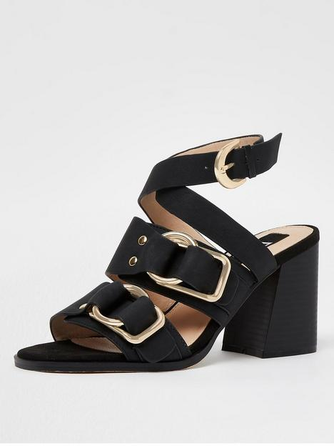 river-island-buckle-day-block-heel-shoe-black