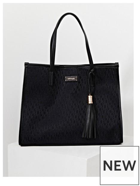 river-island-jacquard-square-shopper-bag-black