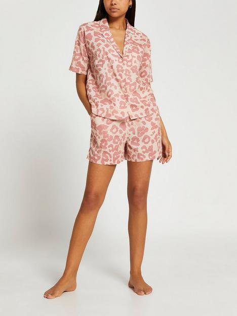 river-island-leopard-cotton-pj-shirt-pink