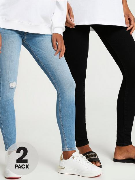 river-island-molly-maternity-multipack-jean--blue