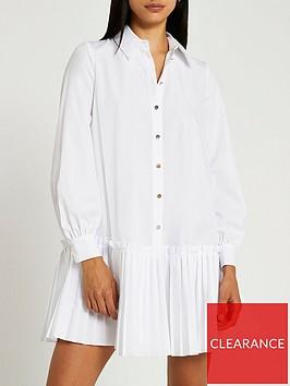 river-island-pleated-hem-shirt-dress-white