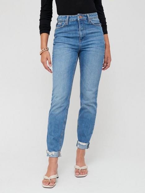 river-island-tall-mom-high-waist-jean--mid-denim