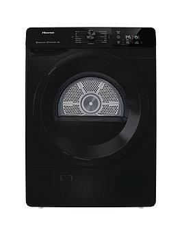 Hisense Hisense Dhge801B 8Kg Heat Pump Tumble Dryer - Black