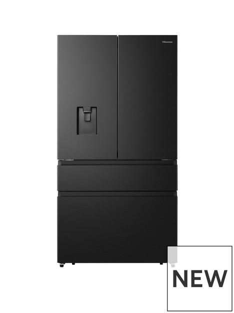hisense-rf749n4wff-90cm-widenbsppureflat-french-door-fridge-freezer-black-stainless-steel