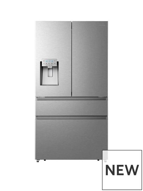 hisense-rf728n4aif-90cm-widenbsppureflat-french-door-fridge-freezernbspwith-water-and-icenbsp--premium-stainless-steel