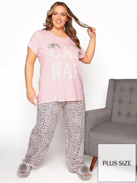 yours-yours-clothing-cap-nap-animal-pj-set-pinknbsp