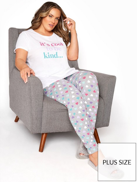 yours-yours-clothing-its-cool-heart-legging-pj-set-whitenbsp