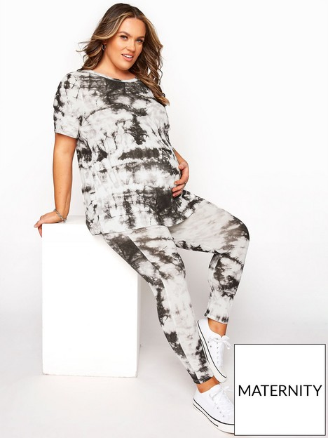 yours-yours-bump-it-up-maternity-tie-dye-tee-ampnbspcrop-leggings-set-ivorynbsp