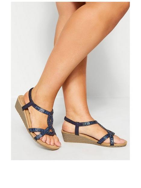 yours-yours-otis-twist-diamante-wedge-sandal-navy