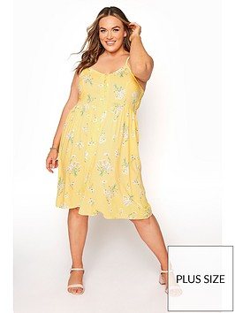 yours-yoursnbspbutton-front-dress--nbspyellow