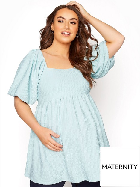 yours-yours-bump-it-up-maternity-jacquard-square-neck-top
