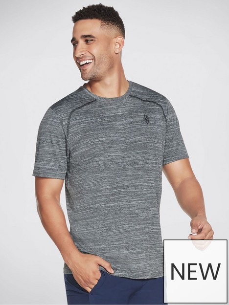 skechers-on-the-road-knit-t-shirt-grey