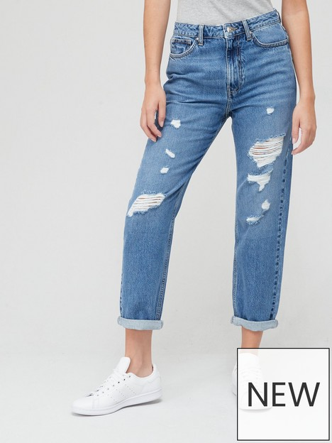 v-by-very-mom-high-waist-jean-with-rips-mid-washnbsp