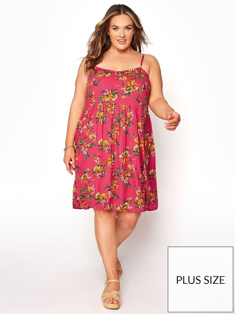 yours-yours-strappy-dress--nbsppink-floral