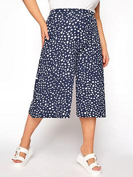 Yours Clothing Animal Spot Culotte