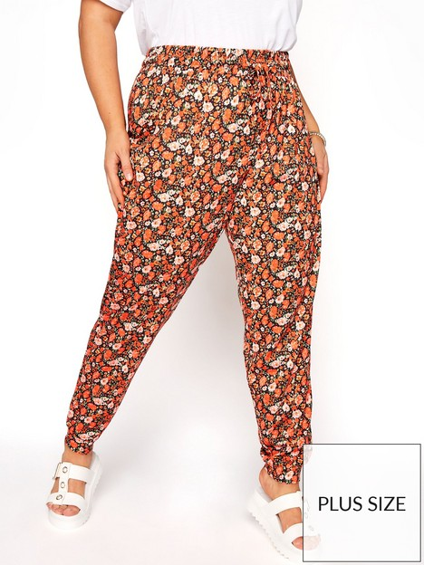 yours-clothing-shirred-waist-trouser