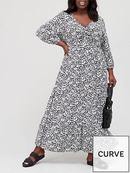 v-by-very-curve-v-neck-tiered-maxi-dress-black-floral