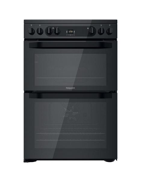 hotpoint-hdm67v92hcb-60cm-wide-freestandingnbspdouble-oven-electric-cooker