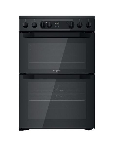 hotpoint-hdm67v9cmb-60cm-widenbspfreestanding-double-oven-electric-cooker