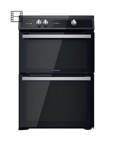 hotpoint-hdt67i9hm2cuk-60cm-wide-freestanding-double-oven-induction-cooker