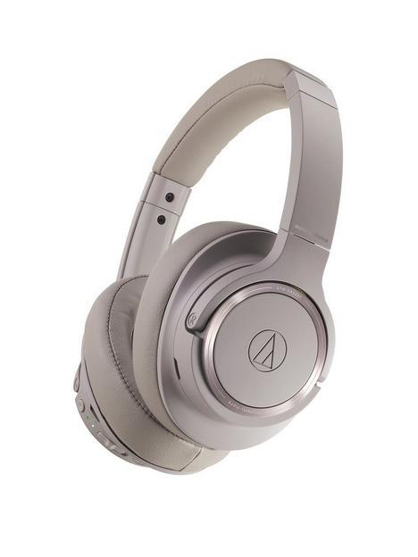 audio-technica-wireless-headphones-brown-grey