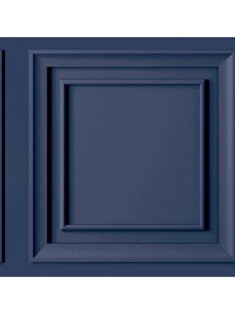 fresco-wood-panel-navy-wallpaper
