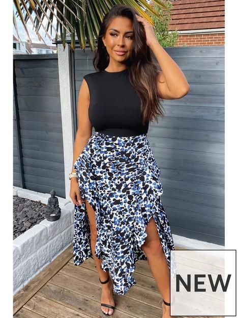 ax-paris-printed-skirt-2-innbsp1-midi-dress-blue