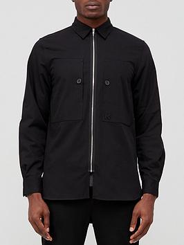 kenzo-full-zip-overshirt-black