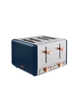 Tower Cavaletto 4-Slice Toaster - Midnight Blue