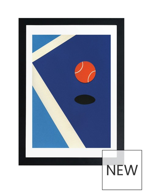east-end-prints-jumping-tennis-ball-by-rosi-fiest-a3-framed-print