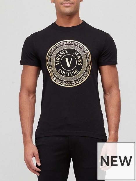 versace-jeans-couture-large-gold-circle-logo-t-shirt-black