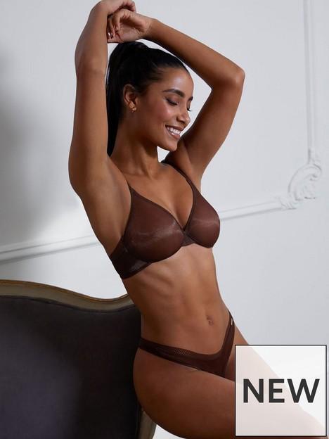 gossard-glossies-sheer-bra-brown