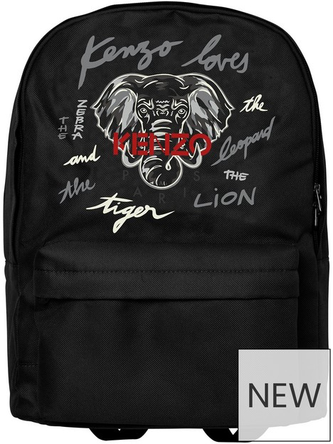 kenzo-canvas-zip-logo-backpack-black