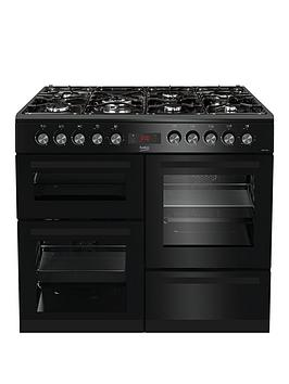 Beko Kdvf100K 100Cm Double Oven Range Cooker, Black