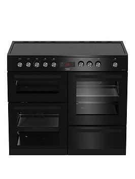 Beko Kdvc100K Freestanding 100Cm Double Oven Range Cooker, Black