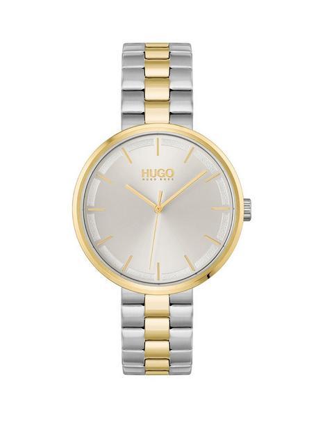 hugo-hugo-silver-dial-stainless-steel-two-tone-bracelet-watch