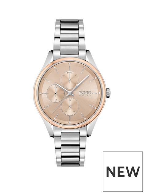 boss-boss-grand-course-blush-dial-stainless-steel-bracelet-watch