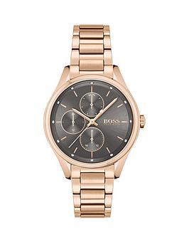 boss-boss-grand-course-grey-dial-gold-tone-bracelet-watch