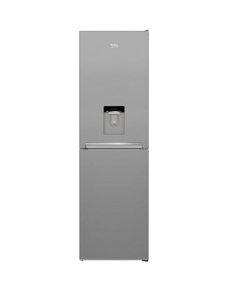 beko-cfg3582ds-55cm-wide-frost-free-fridge-freezer-silver