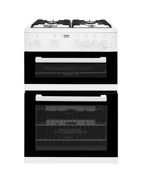 beko-kdg611w-60cm-double-oven-gas-cooker-with-gas-grill-white