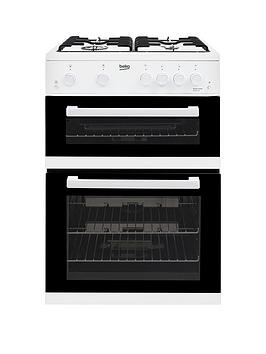 Beko Kdg611W 60Cm Double Oven Gas Cooker With Gas Grill, White