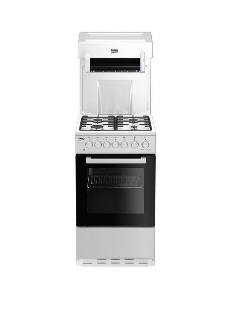 beko-ka52new-50cm-wide-single-oven-high-level-grill-gas-cooker-white