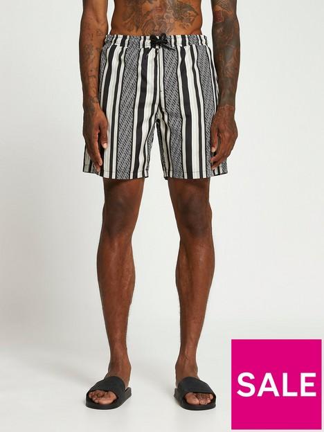river-island-monogram-stripe-swim-shorts-black