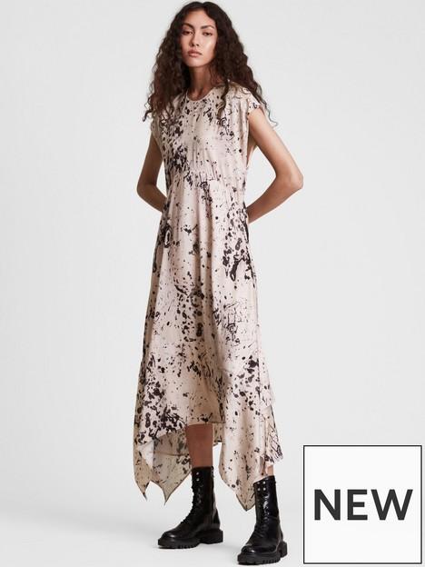 allsaints-gianna-printed-asymmetric-hem-dress-pink