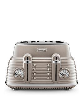 Delonghi Scolpito 4-Slice Toaster - Beige