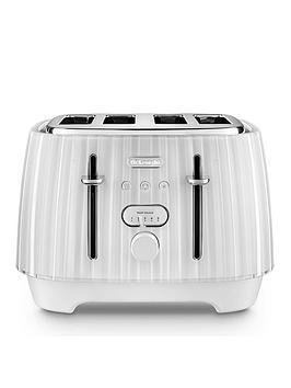 Delonghi Ballerina 4-Slice Toaster - White
