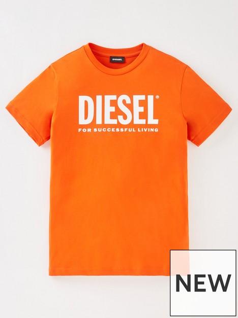 diesel-boys-logo-t-shirt-red