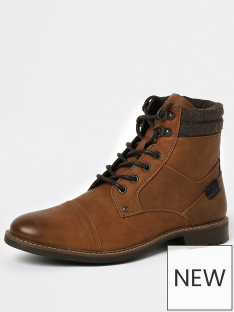 river-island-lace-up-military-boots-brown