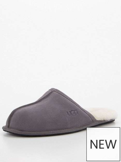 ugg-scuff-suede-sheepskin-lined-slippersnbsp--dark-grey